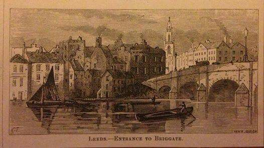 Leeds 1868 Entrance to Briggate.