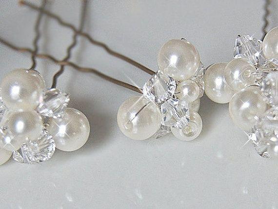 Wedding Hair Accessories, Bridal Hair Pins - Crystal
