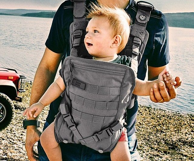 Ensure your bundle of joy remains safe when you head out by placing them inside this military grade baby carrier. This tactical baby carrier features a MOLLE attachment system on the front and back, a sun shield, and a sturdy 100D nylon outer construction.