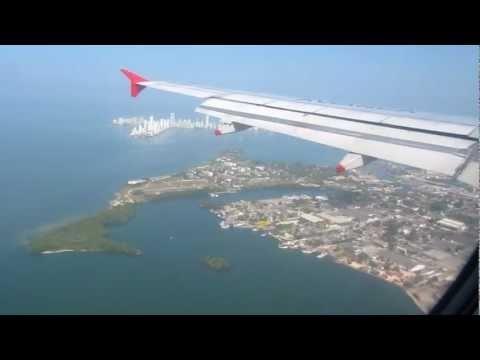 Landing in Cartagena , Colombia
