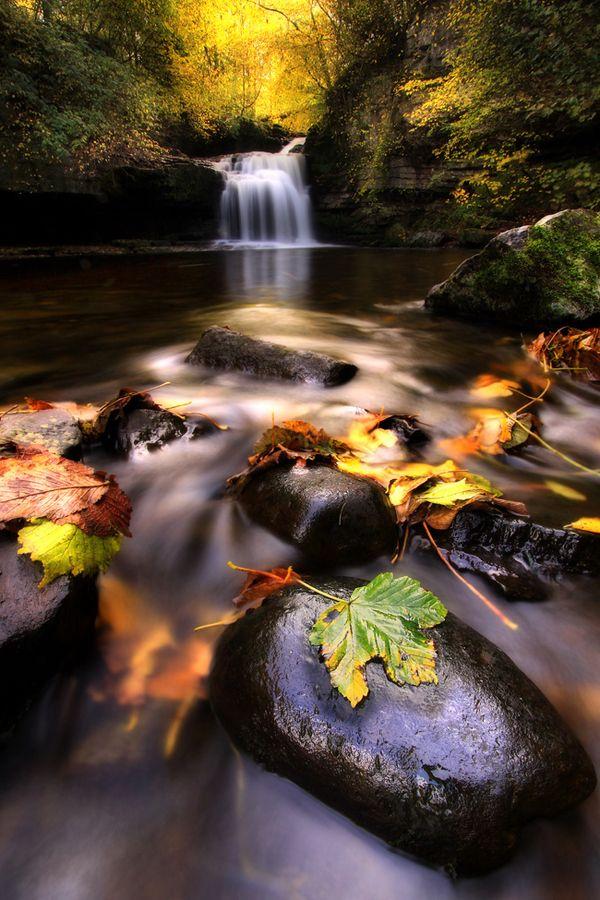 Small, but beautiful waterfall at West Burton, North Yorkshire, UK