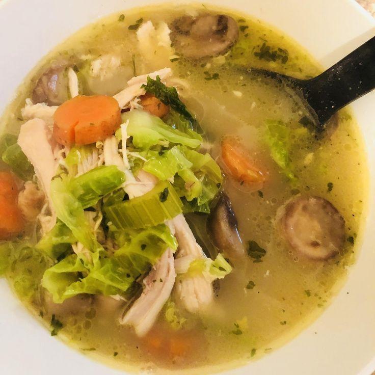 Keto No Noodle Chicken Soup