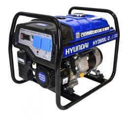 Hyundai HY2800L-2 2.2kW / 2.75kVa* Recoil Start Site Petrol Generator