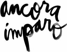 """""""ancora imparo"""" (still I am learning) proclaimed by Michelangelo in his old age. Hate the script love the phrase."""