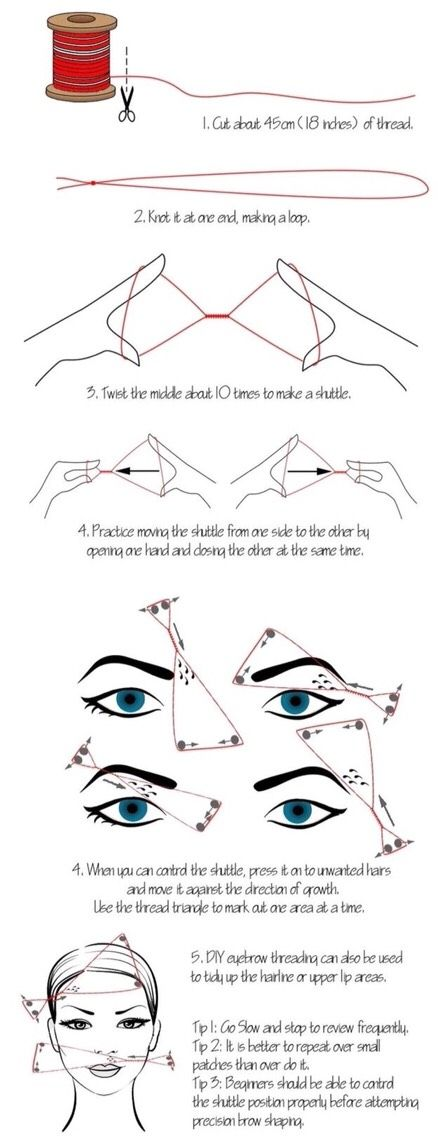 How To Thread Your Own Eyebrows #Beauty #Trusper #Tip