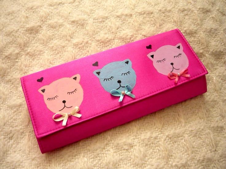 Geanta-plic Pastel Cats de ebonyvintage Breslo