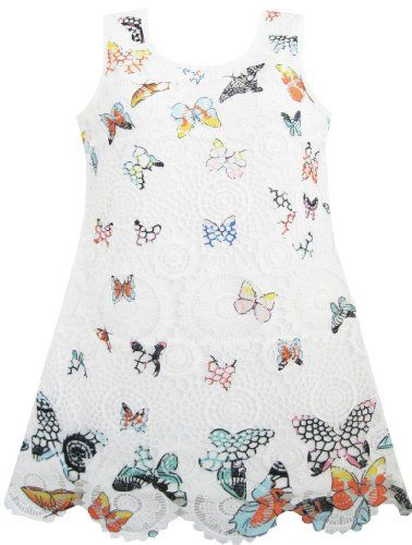 Girls Dress White Butterfly Lace A-lined Party Dancing Size 7 Sunny Fashion,http://www.amazon.com/dp/B00E2VR7VI/ref=cm_sw_r_pi_dp_6AvMsb10P6YXWQAG