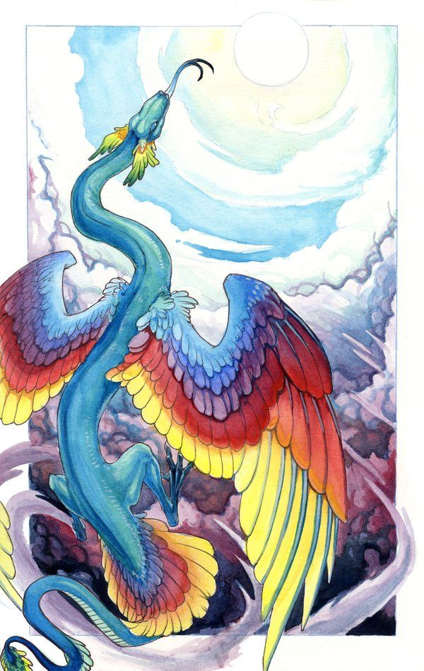 On my list of favorite artists. Hibbary uses a wide variety of mediums and her subjects include animals, furries, and fantasy creatures.    Rainbow Serpent by hibbary on deviantART    #deviantart #fantasy #furry