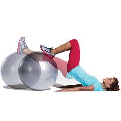 Try Our Stability Ball Leg Curl to work your Butt, Thighs and Legs