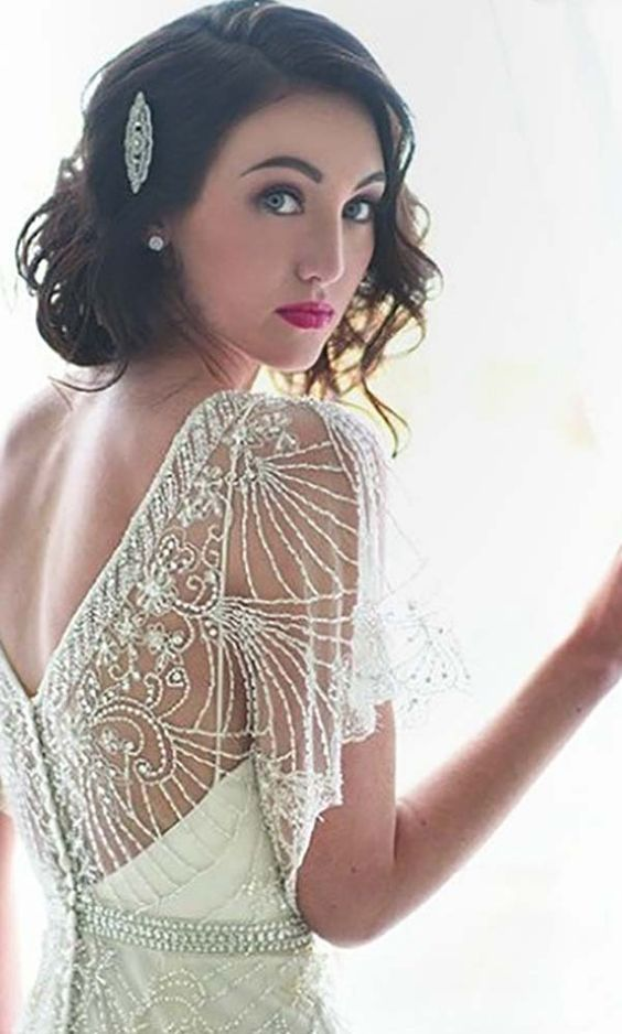 24 Short Wedding Hairstyle Ideas So Good You'd Want To Cut Your Hair ❤ See more: http://www.weddingforward.com/wedding-hairstyle-ideas-for-short-hair/