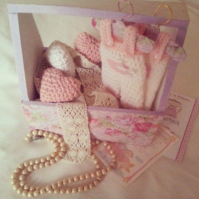 Souvenir de nacimiento al crochet
