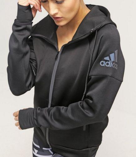 adidas Performance DAYBREAKER czarna Bluza rozpinana black