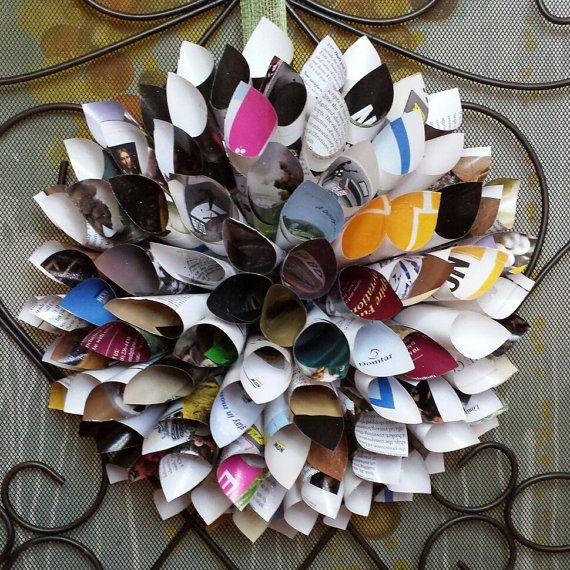 The 16 best paper dahlia wreath images on pinterest paper dahlia recycled paper wreath dahlia wreath paper flower by lucybirdy 2500 mightylinksfo