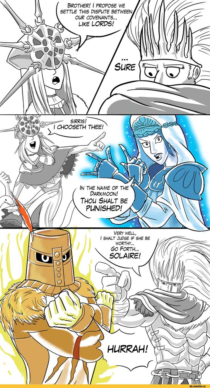 Dark Souls,фэндомы,Dark Souls 3,DS art,Gwyndolin,DS персонажи,Nameless King,DSIII персонажи,Solaire of Astora,Sirris of the Sunless Realms