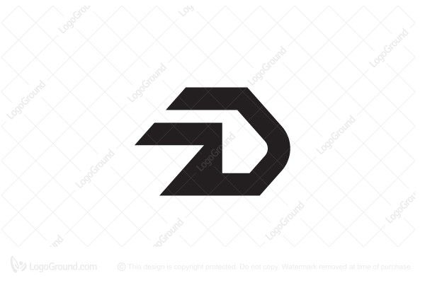 Stylish Letter D Logo Stylish Letters Data Logo Lettering