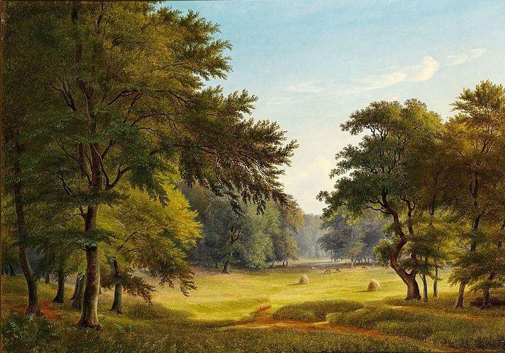 P.C. Skovgaard (1817-1875): View of Dyrehaven (the Deer Garden) north of Copenhagen