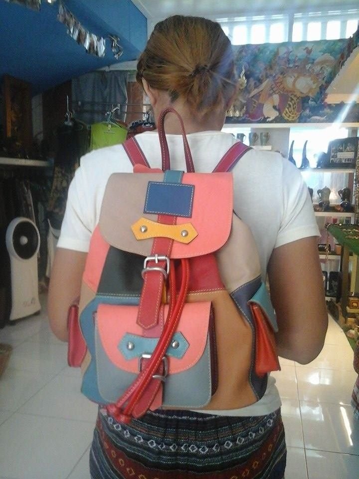#fairtrade Handmade leather bags from Thailand.