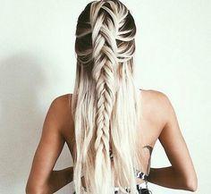 Black + white hair ombre