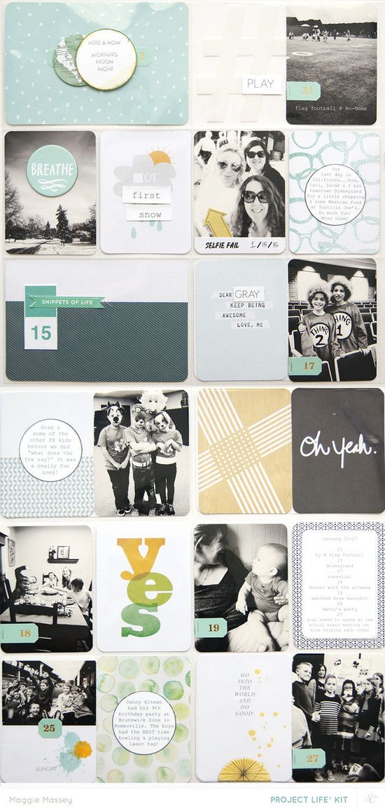 March 2015 Odyssey PL Main - January Snippets: @MaggieWMassey for @studio_calico #studiocalico #scrapbook #projectlife