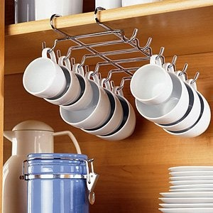 Chrome Under Shelf Cup Holder Holds Up To 12 Cups