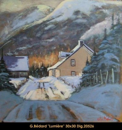Original mixmedia painting on canevas by Gilles Bedard #GillesBedard #artist #art #mixmediapainting #artist #originalpainting #fineart #canadianartist #quebecartist  #landscape #shadows #light #multiart #balcondart