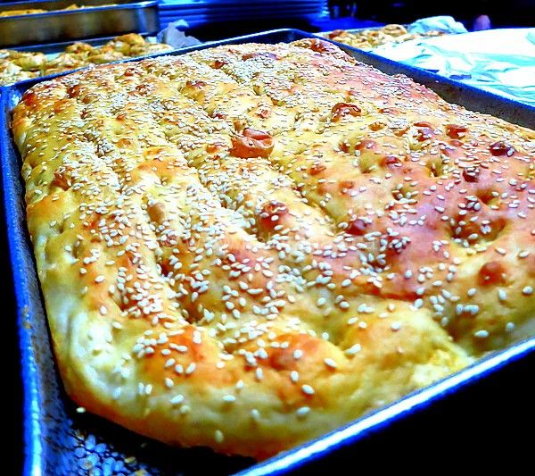 Lagana (λαγάνα) Greek Sesame Flatbread- Kalofagas - Greek Food & Beyond