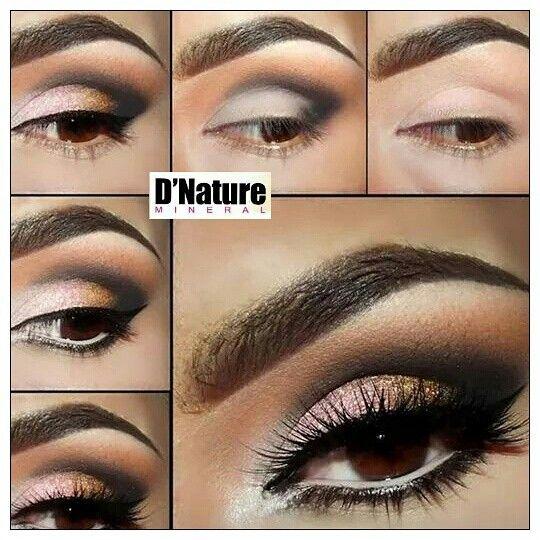 Paso a paso de un lindo maquillaje para tus ojos... intentalo!!!