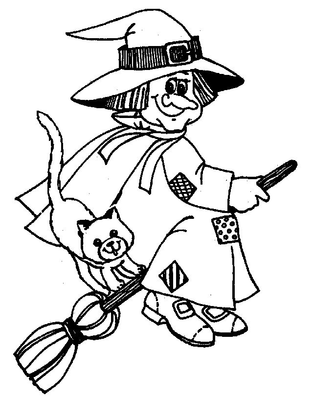 Get The Latest Free Halloween Coloring Pages Witch Images Favorite To Print Online