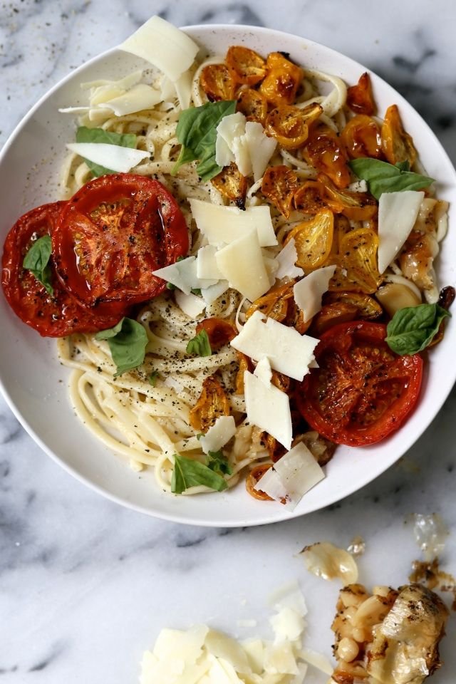 Roasted Tomato and Garlic Pasta