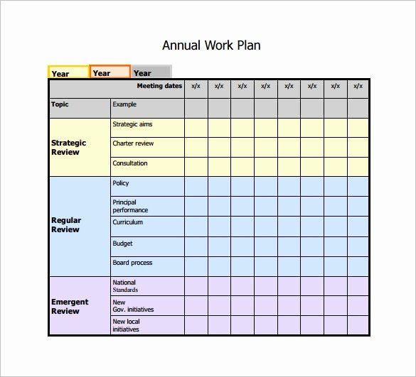 Work Plan Template Excel In 2020 Schedule Template Work Plans