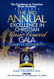 Flyer from the Excellence in Christian Music 2013 Concert Gala.