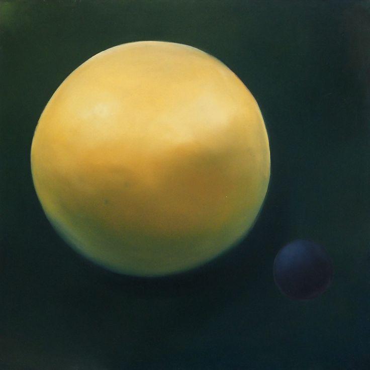 Microplaneta, Oil on canvas, 100x100cm