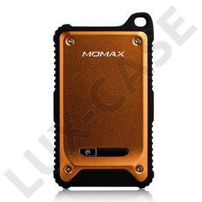 MOMAX (Oranssi) Iskun- ja Vedenkestävä Varavirtalähde Älypuhelimille Kahdella Ulostulolla