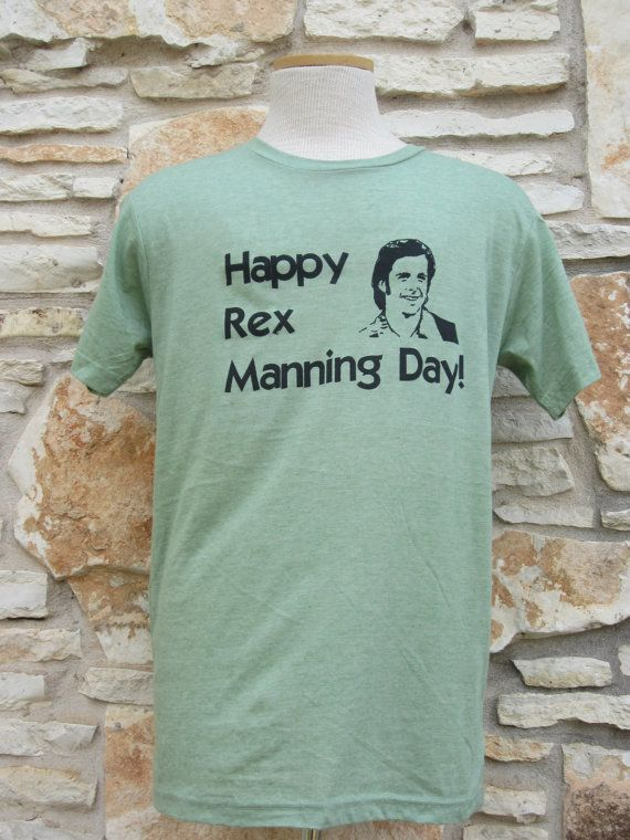 Unisex Rex Manning Day Screenprinted Shirt by CraftsbyCasaverde