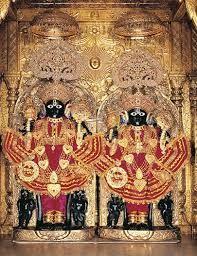 NarNarayan-Kalupur.jpg. The twin form of NarNarayan Dev at the Swaminarayan Temple Ahmedabad