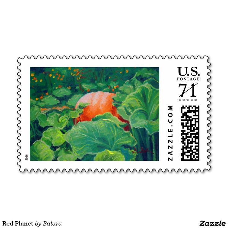 Red Planet Stamp