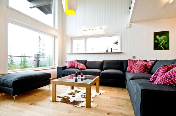 Home & Apartment:Simple Modern Contemporary Minimalist Swedish Two Level Home Apartment Exhibiting An Alluring Cozy Architecture Constructio...