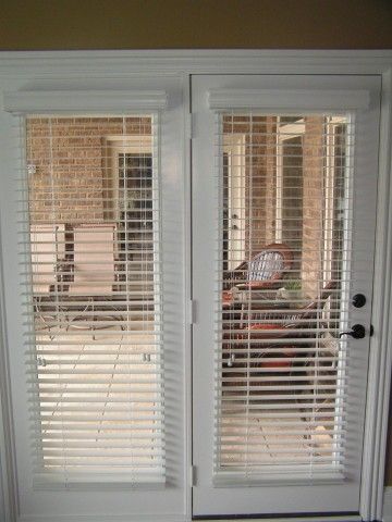 blinds for french doors a way to secure and beautify your home drapery room - Patio Door Ideas