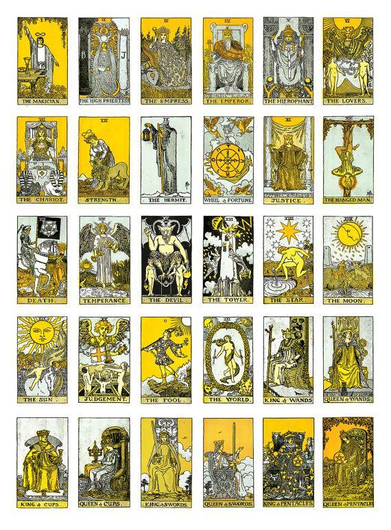 Best 25+ Vintage Tarot Cards Ideas On Pinterest