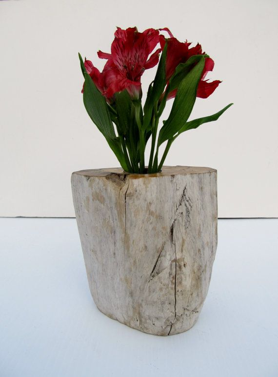 Spalted Maple Driftwood flower stand or vase with a 1 1/8 by 2 3/4 thin wall acrylic insert that is removable. This very unique piece of driftwoodhttps://www.etsy.com/listing/263776967/driftwood-flower-vase
