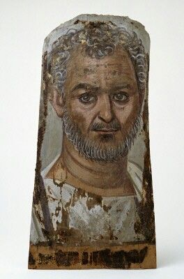 Funerary portrait. Tempera on wood. Egyptian. 1st - 2nd century A.D. | Seattle Art Museum Strangely like Bill Murray