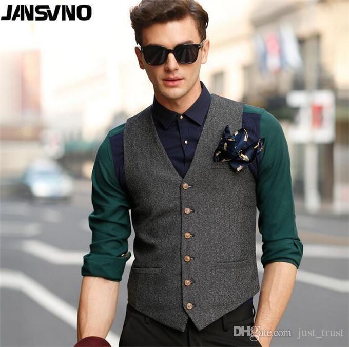 2016 New Fashion Sale Leather Vests Men'S Suit Vest Business England Men'S Coat Casual Vest Waistcoat Slim Vest From Just_trust, $15.86 | Dhgate.Com