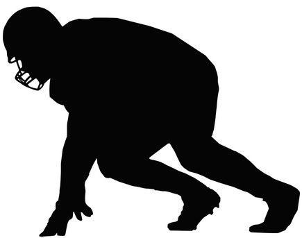 Football player Silouttes | Football player silhouette