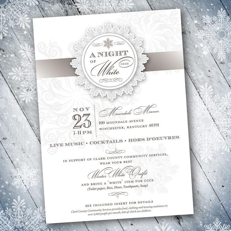 Vintage Winter Theme Formal Invitation Design