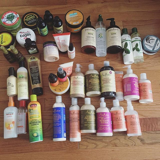 """WEBSTA @ artofshawny - All of my hair care products.. Which features: """"Shea Moisture"""" """"Carols Daughter"""" """"Taliah Waajid"""" """"Argan Oil"""" """"Jamaican Castor Oils"""" """"Proclaim"""" """"Eden"""" """"African Pride"""" """"Cantu"""" """"Eco Gel"""" """"Edge Control"""" """"Silk Elements"""""""