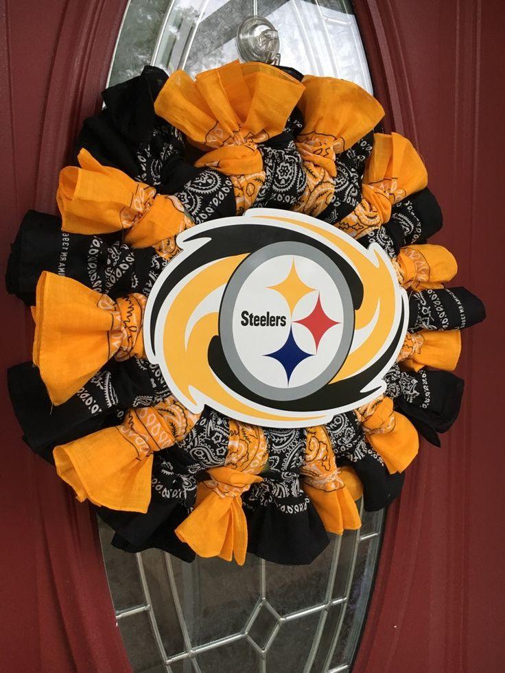 Wreaths, Door Wreaths, Front Door Wreaths, Steelers Wreaths, Pittsburgh Steelers…