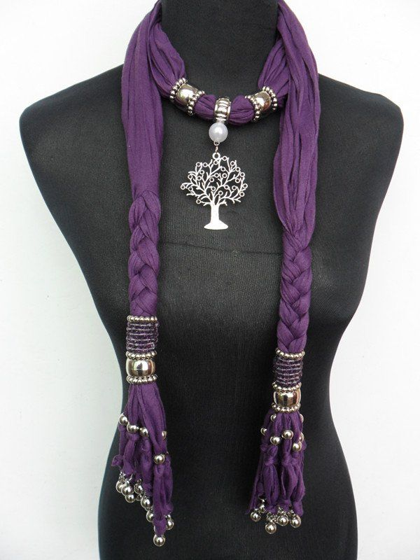 awesome scarves women | .com : Buy 2012 Amazing Scarf jewelry Women's pendant scarves ...