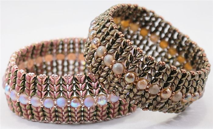 BeadSmith Exclusive Bead Store Patterns - SuperDuo Honeycomb Bangles