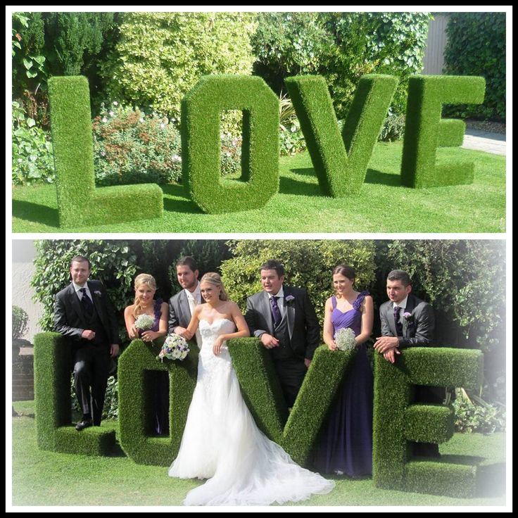 Grass Love Letters Hire, Giant Letter Hire, Wedding Hire from E.S.V in Bedfordshire, Hertfordshire & Buckinghamshire @https://www.facebook.com/eversovintage/