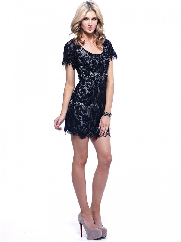 Rose Lace Dress by Signature T at AlibiOnline